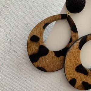 Francesca's Collections Jewelry - Francesca's | Audrey Leopard Teardrop Earrings